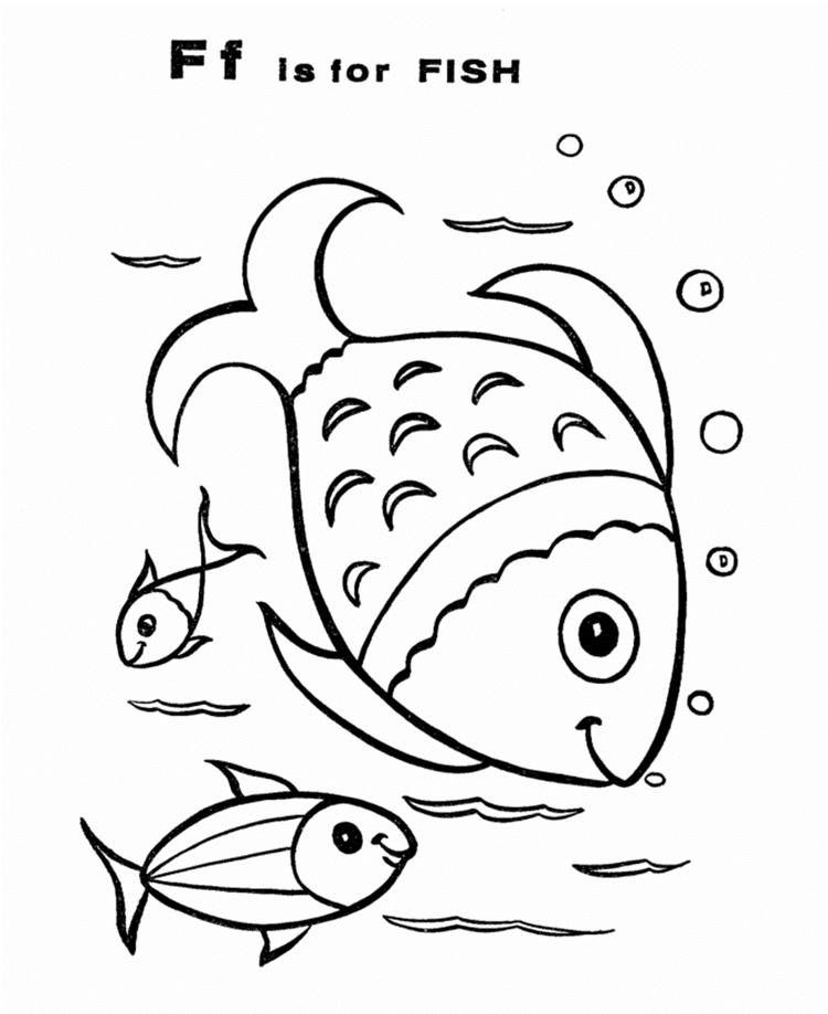 Fish Free Alphabet Coloring Pages