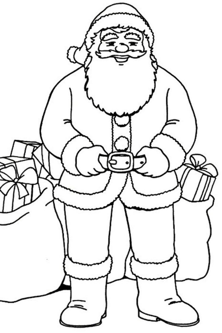 Fit Santa Christmas Coloring Pages Printable1