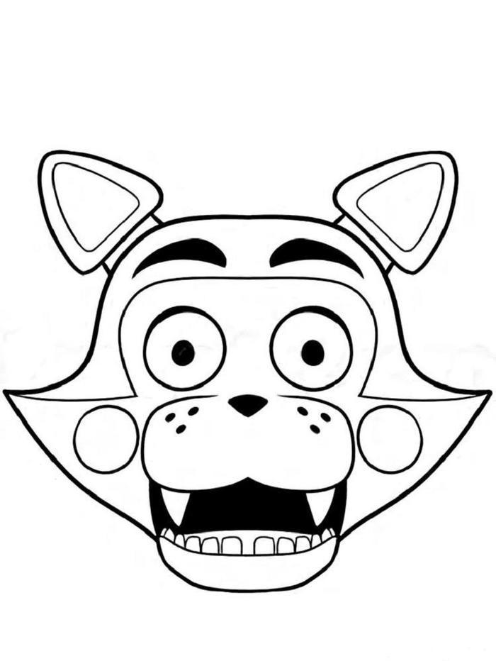 Five Nights At Candys Coloring Pages