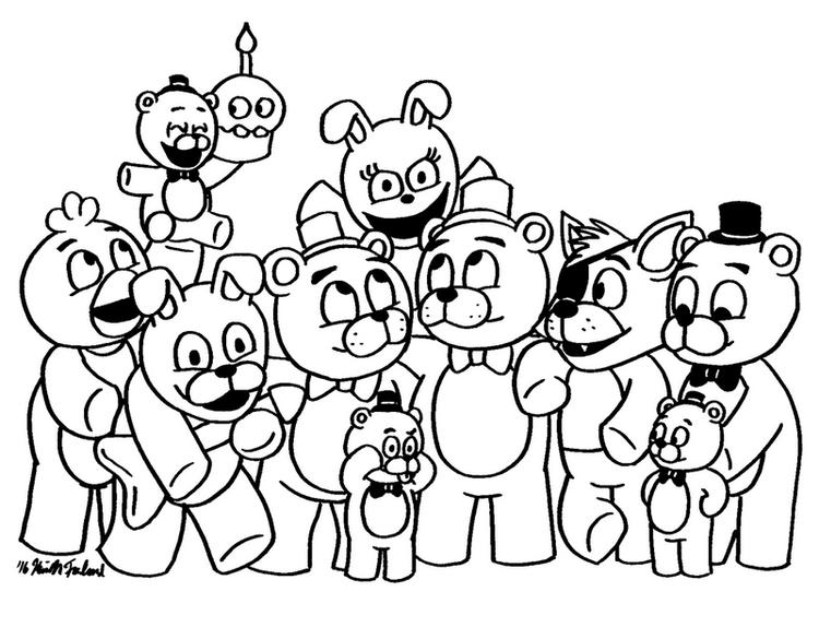Five Nights At Freddys Fnaf Coloring Page