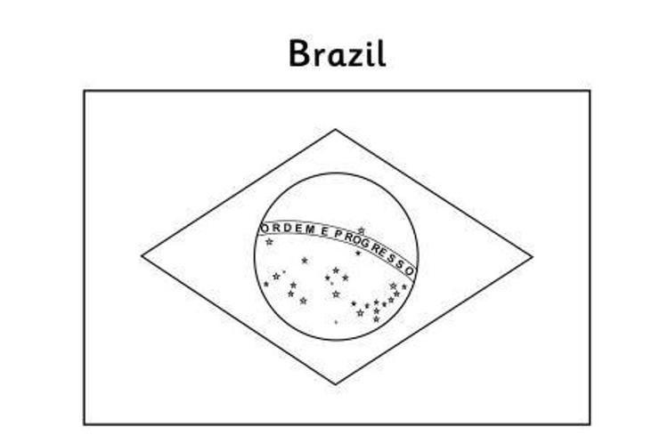 Flag Coloring Pages Brazil