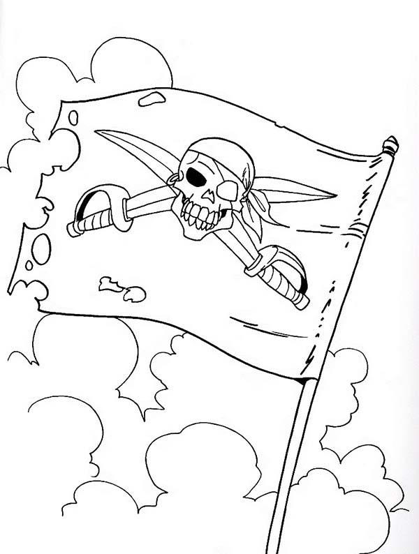 Flag Of Piet Pirate Coloring Pages