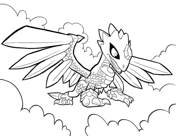 Flashwing From Skylanders Trap Team Coloring Pages