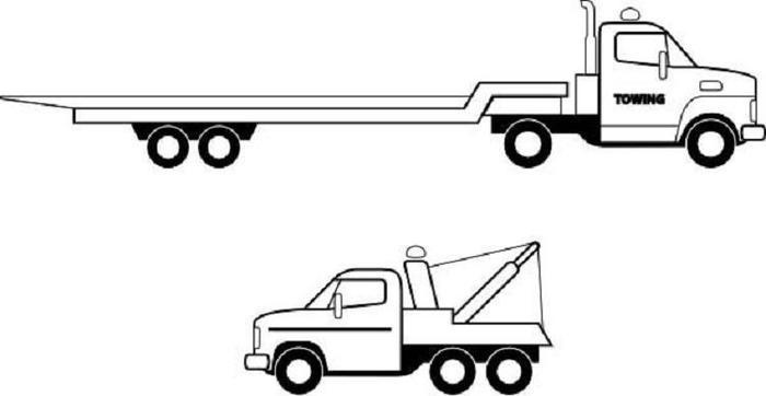Flatbed Truck Coloring Pages Coloring Ideas