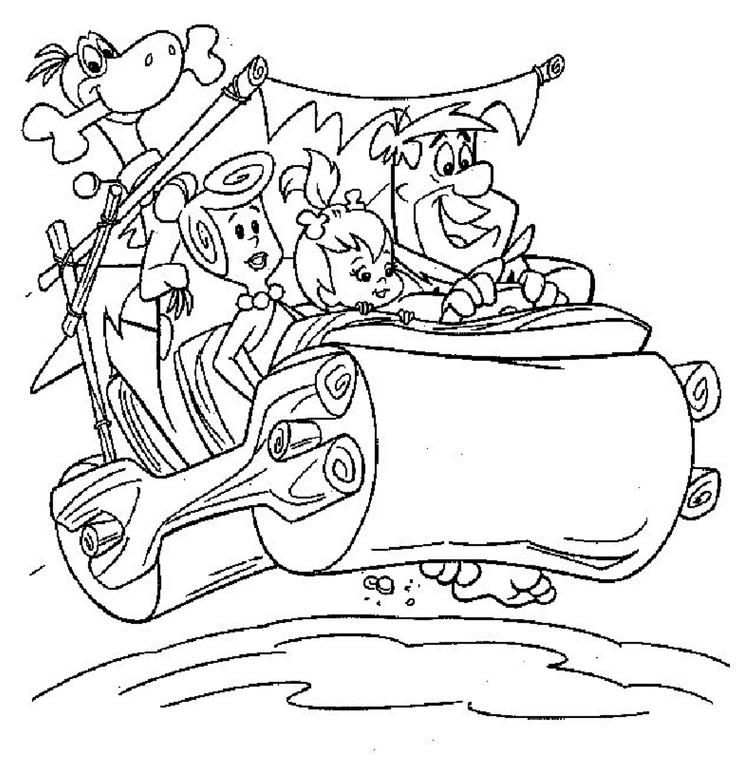 Flintstones Coloring Pages For Kids