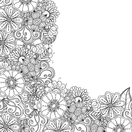 Floral Pattern Coloring Pages To Print