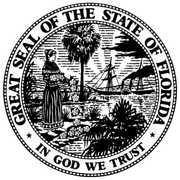 Florida State Symbols Print Out Drawing