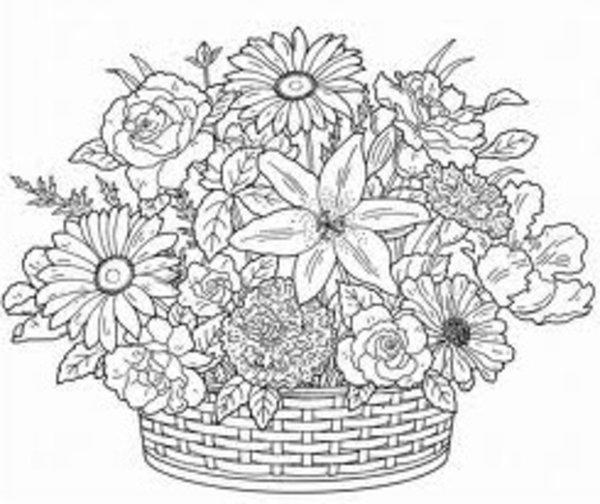 Flower Adult Coloring Pages Printable