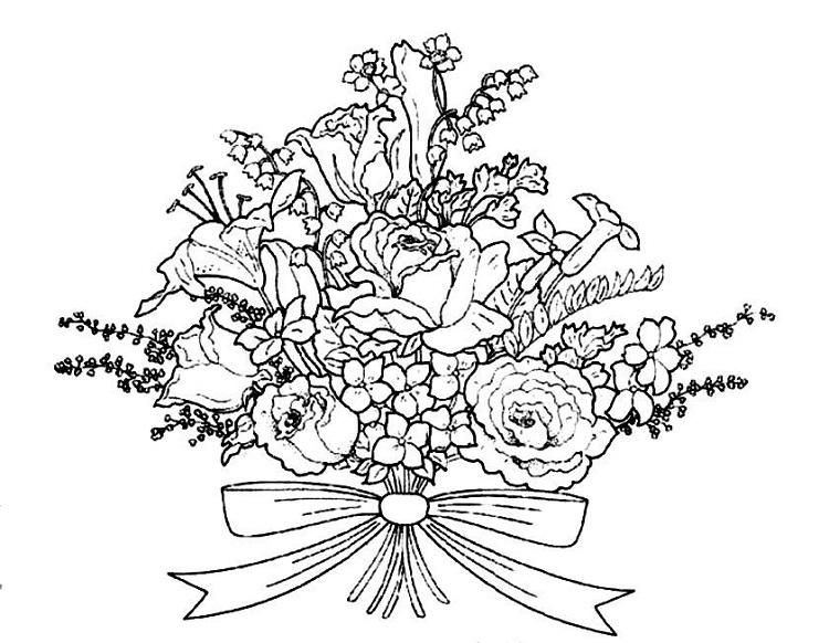 Flower Bunch Coloring Pages