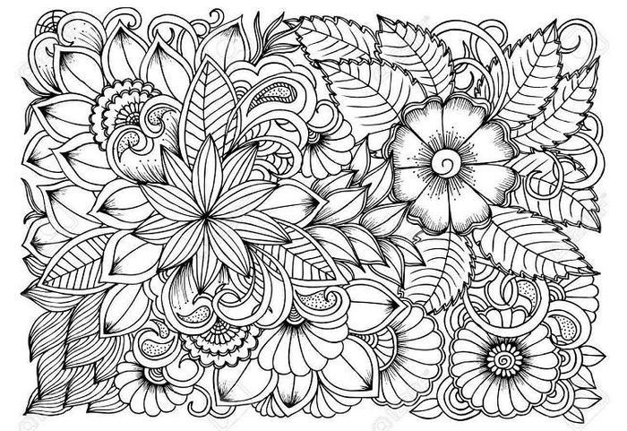 Flower Coloring Pages Art Therapy