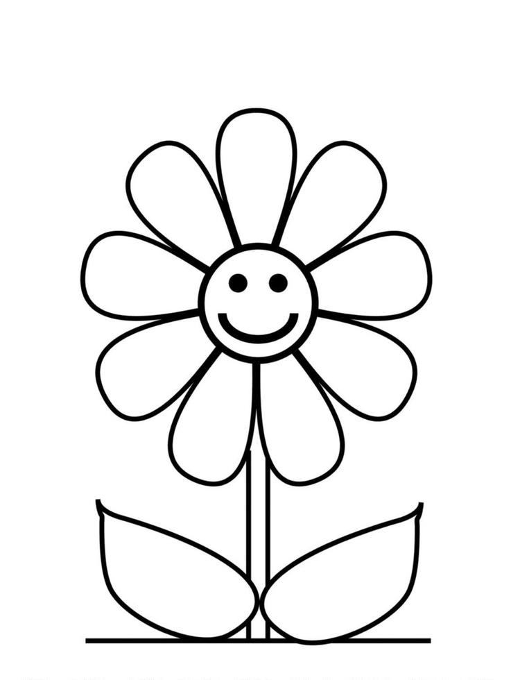 Flower Coloring Pages Cute