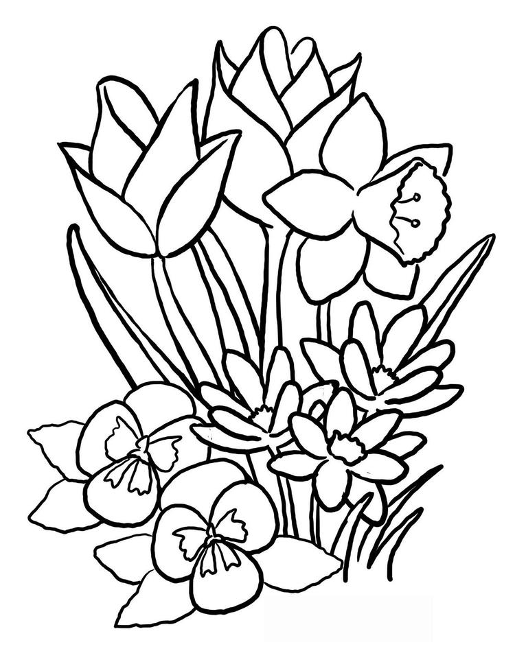 Flower Coloring Pages Cute1