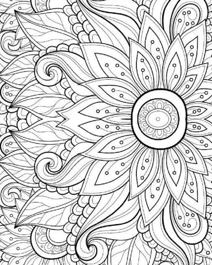 Flower Coloring Pages Hard