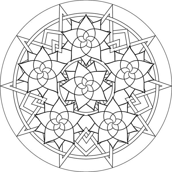 Flower Mandala Coloring Pages For Girls