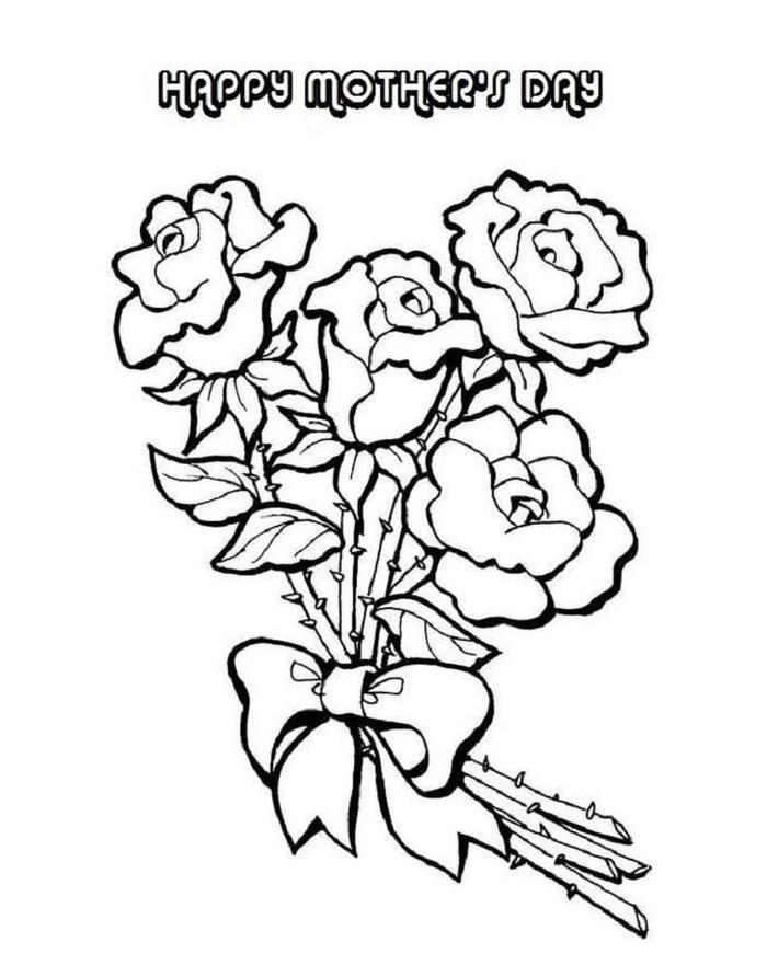Flower Mothers Day Coloring Pages