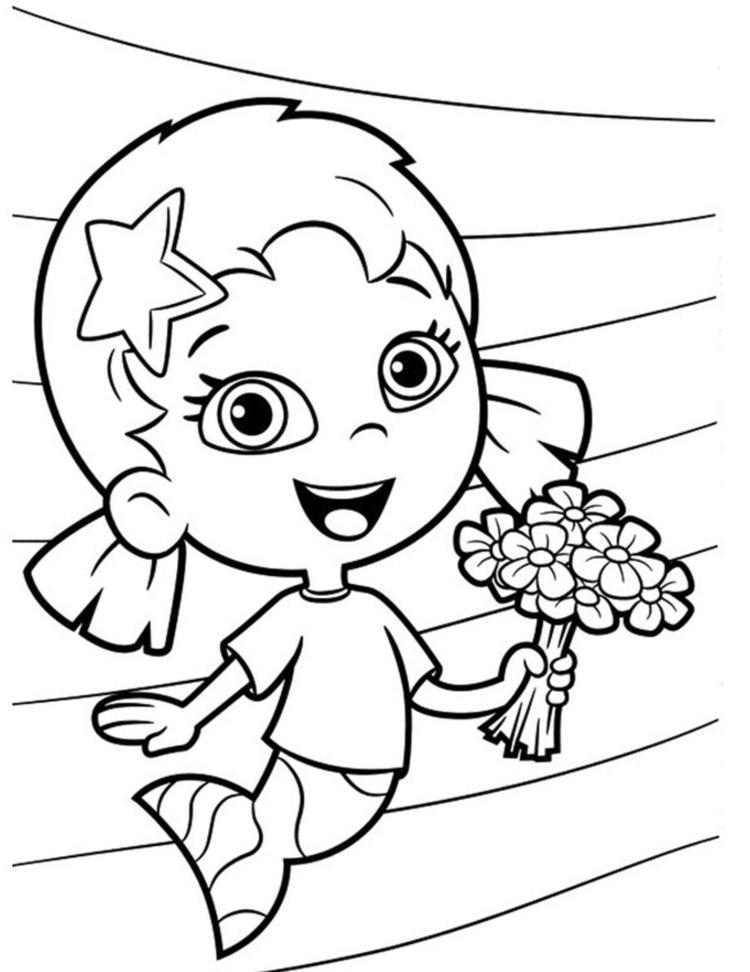 Flower Oona Bubble Guppies Coloring Pages