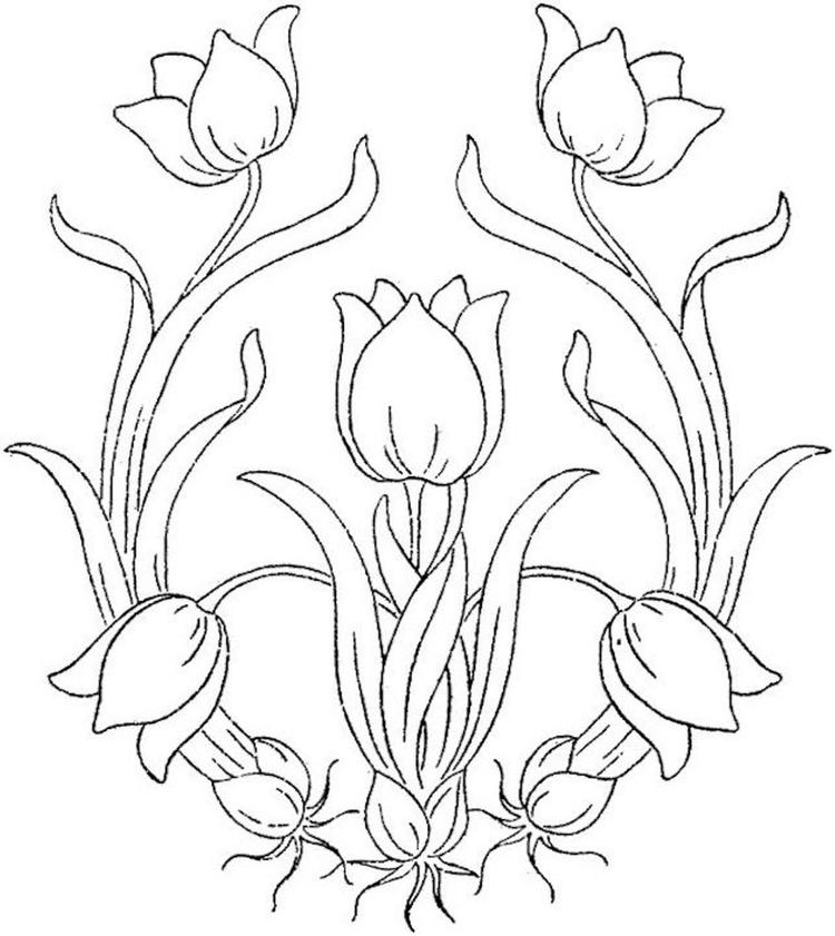 Flowers Coloring Pages Free