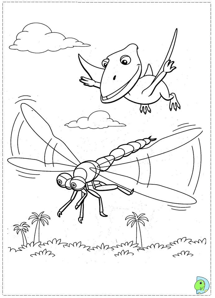 Flying Dinosaur Train Coloring Pages