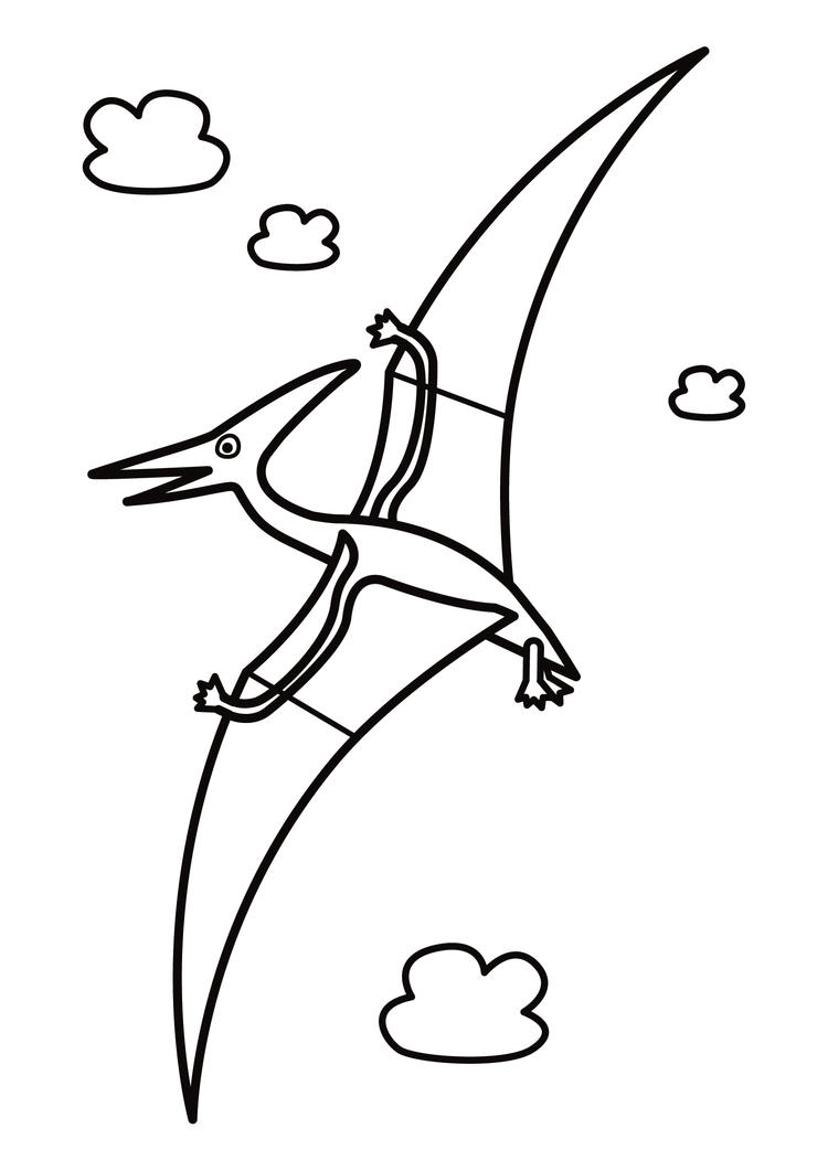 Flying Dinosaurs Coloring Pages For Free