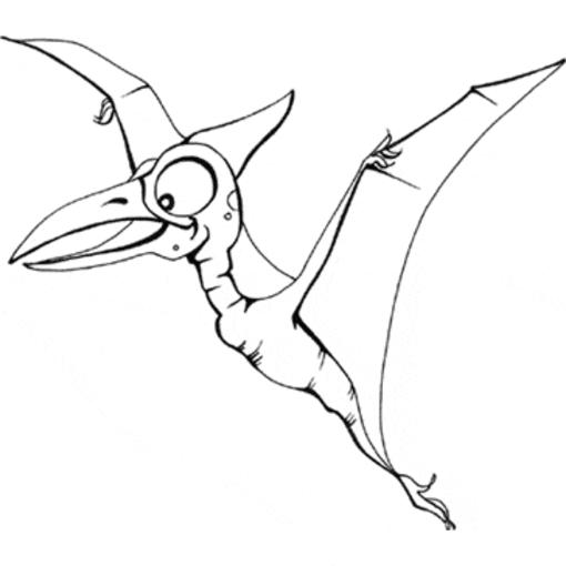 Flying Dinosaurs Coloring Pages For Kids
