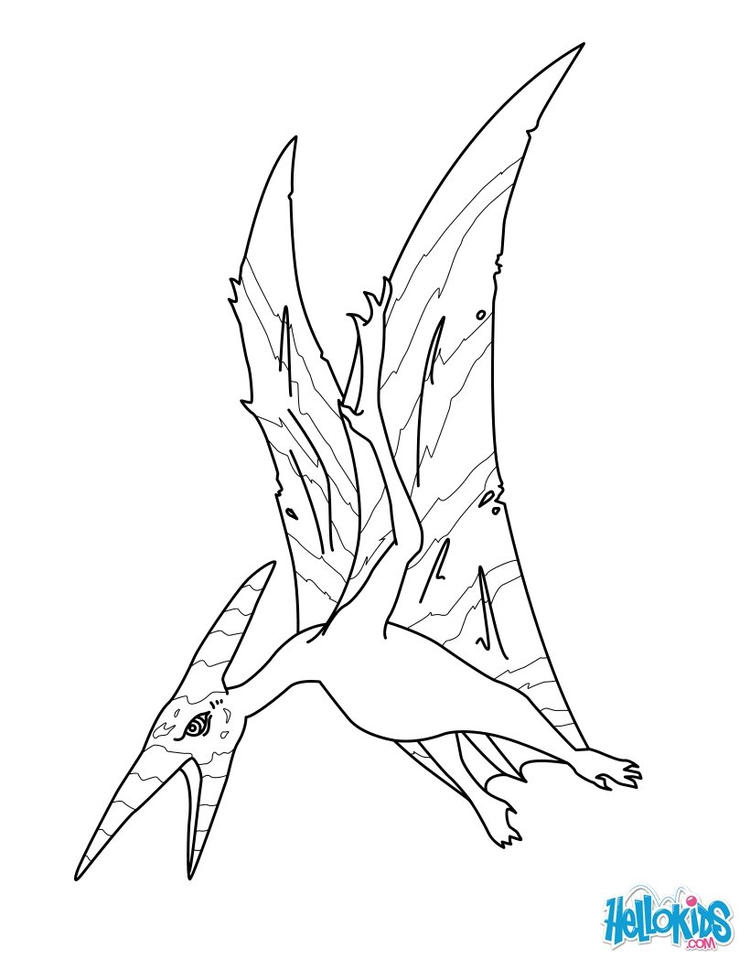 Flying Dinosaurs Coloring Pages For Print