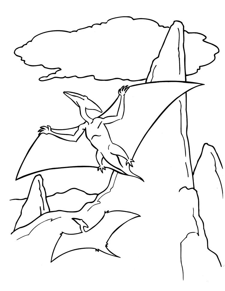 Flying Dinosaurs Coloring Pages For Toddler