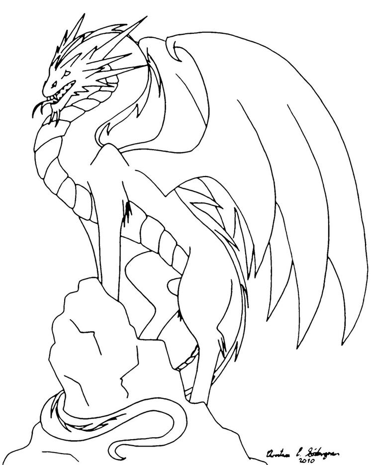 Flying Dragon Coloring Pages 2