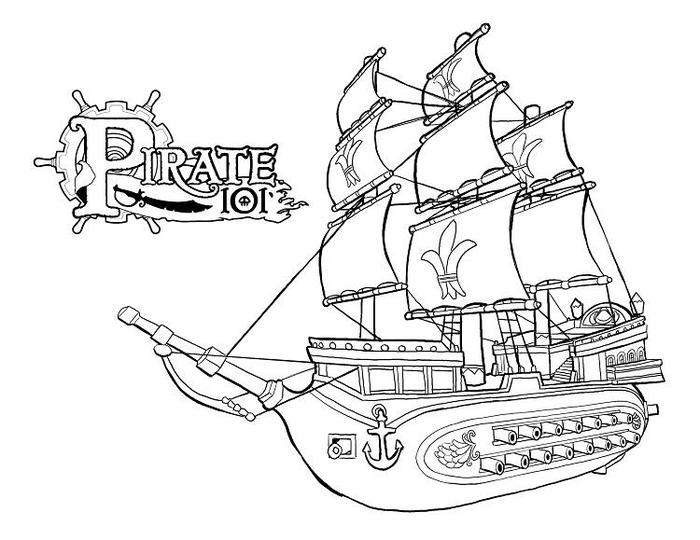 Flying Dutchman Ship Coloring Pages