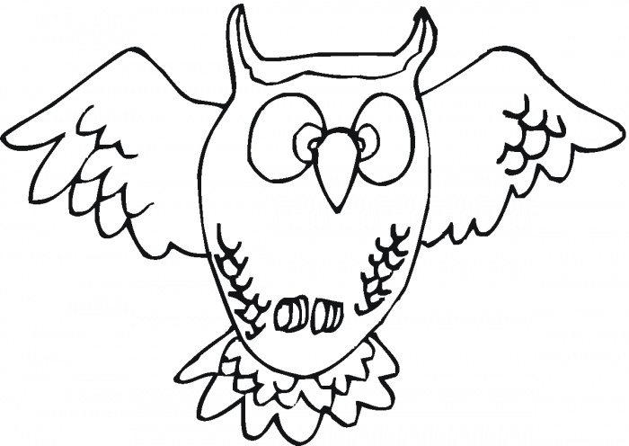 Flying Owl Coloring Pages For Childern