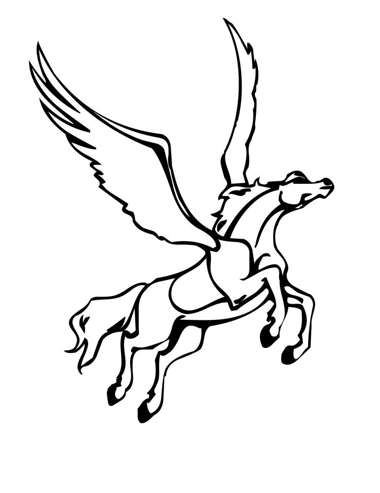 Flying Pegasus Coloring Pages Printable