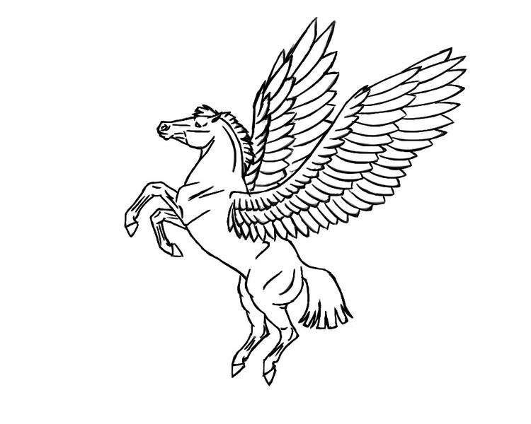 Flying Pegasus Coloring Pages To Print