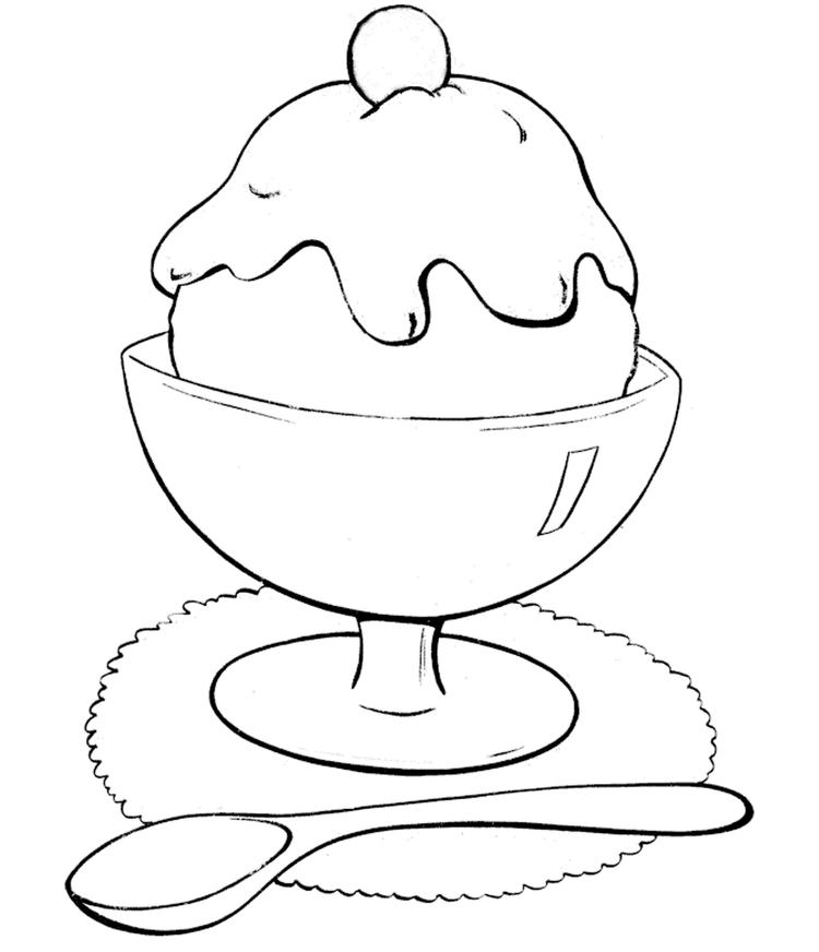 Food Coloring Pages A Glass Of Ice Cream