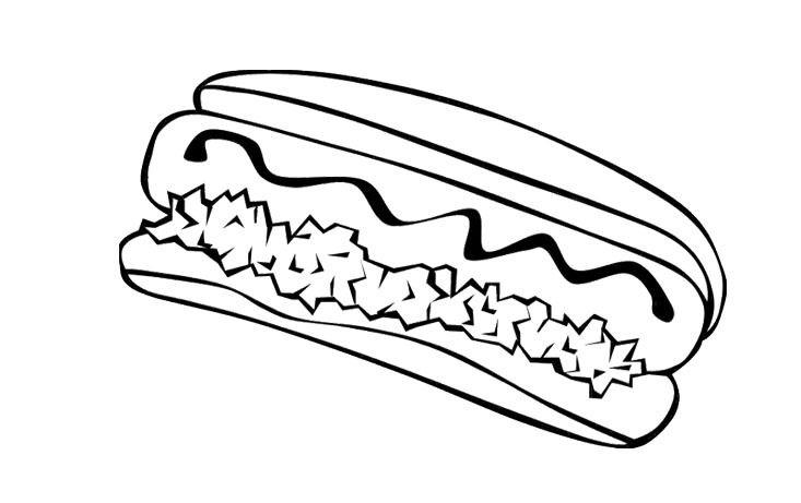Food Coloring Pages Hotdog