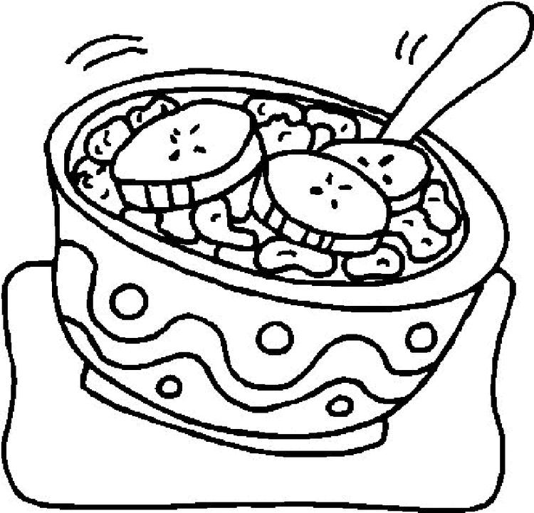 Food Coloring Pages Salad
