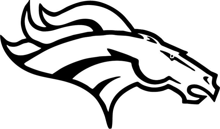 Football Coloring Pages Denver Broncos Logo