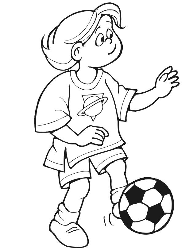 Football Coloring Pages For Girls Sports