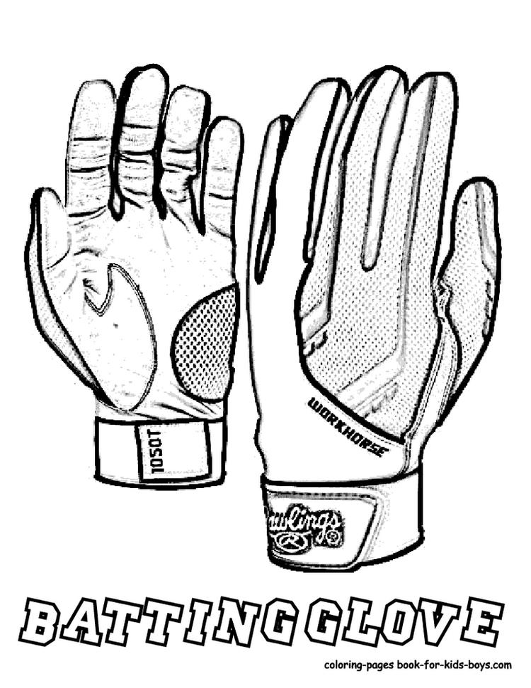 Football Glove Coloring Picture