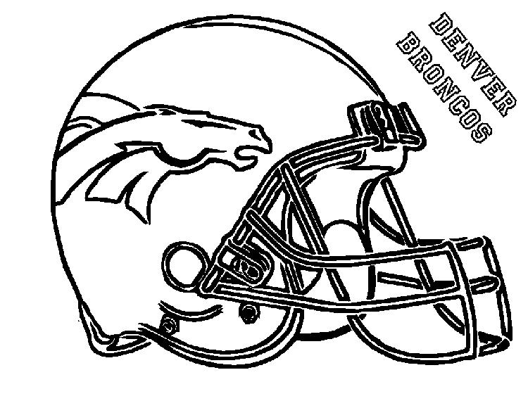 Football Helmet Coloring Pages Denver Broncos