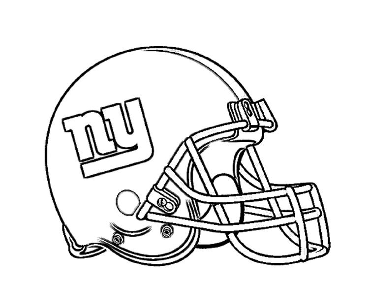 Football Helmet Coloring Pages New York Giants