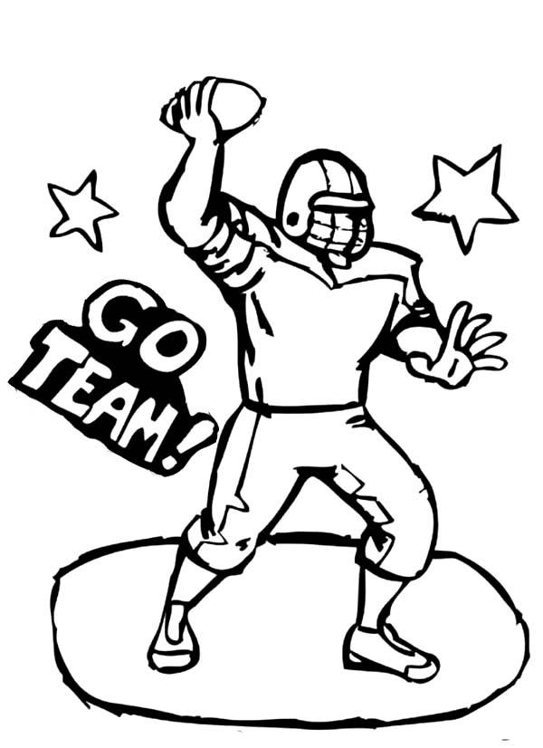 Football Player Coloring Pages Free