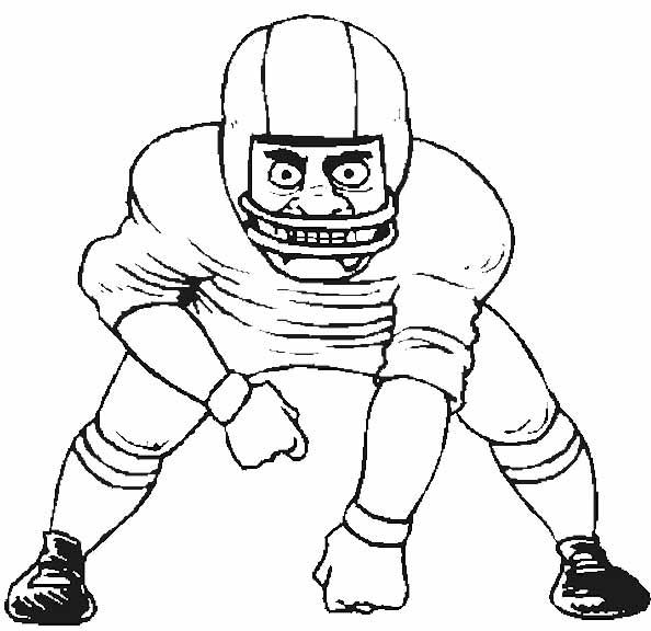 Football Player Coloring Pages Linebacker