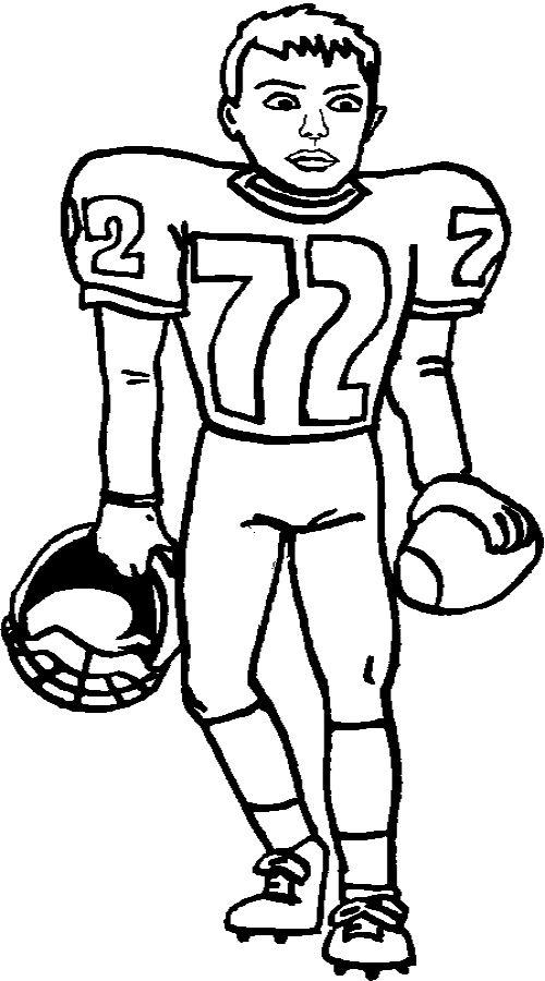 Football Player Coloring Pages Printable 2