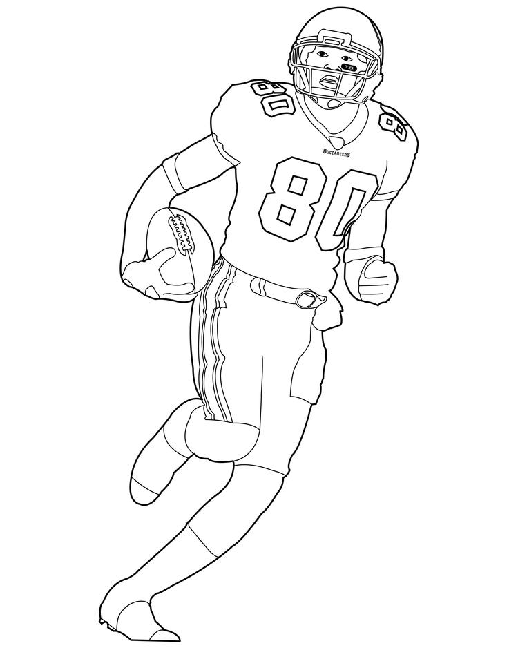Football Player Coloring Pages Printable