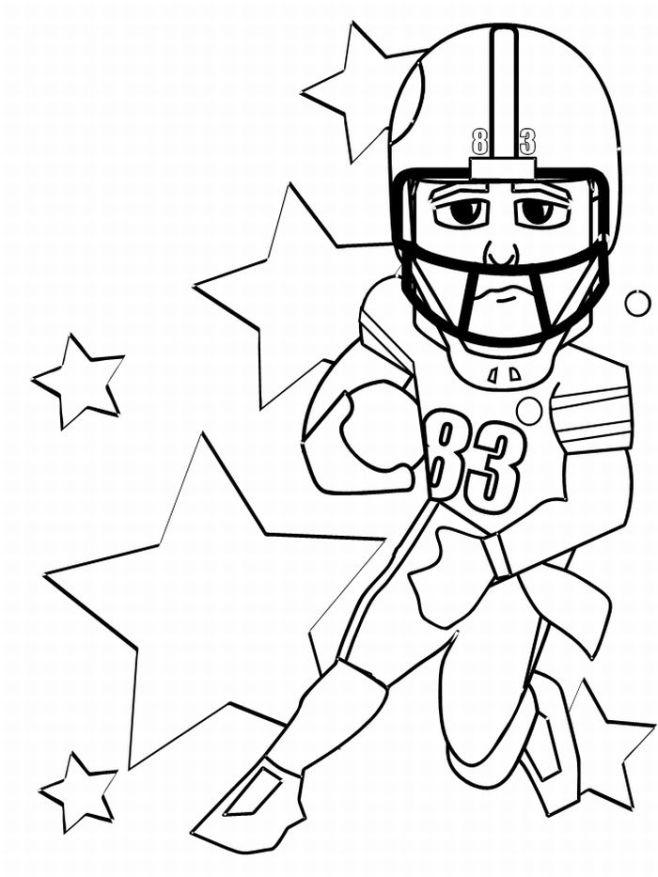 Football Player Coloring Pages With Stars
