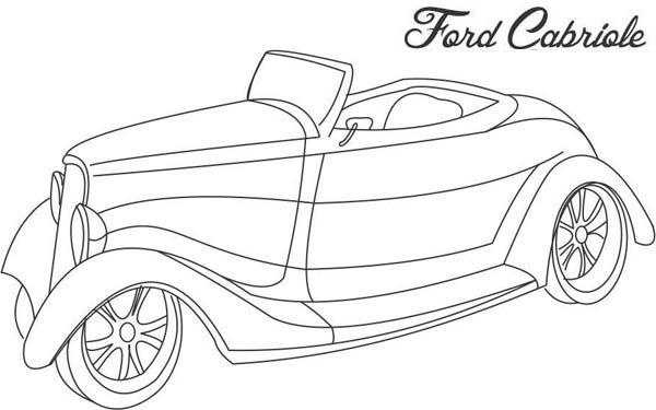 Ford Cabriole Classic Cars Coloring Pages