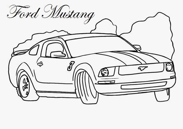 Ford Mustang Coloring Page Printable