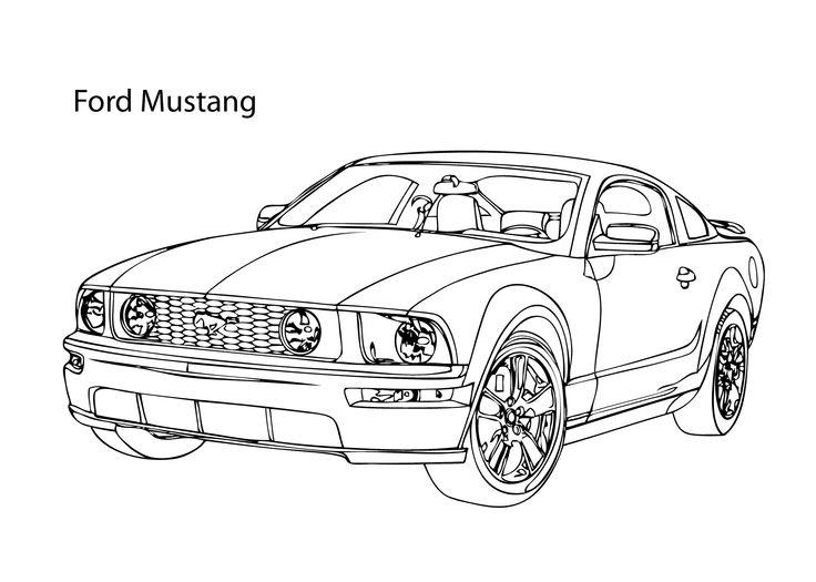 Ford Mustang Coloring Pages For Adults