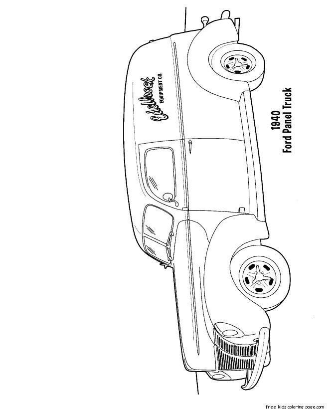 Ford Panel Truck Coloring Pages