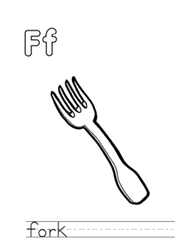 Fork Free Alphabet Coloring Pages