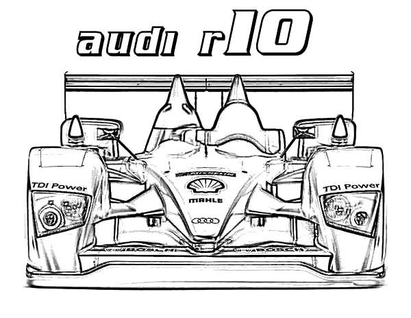 Formula One Audi Cars Coloring Pages